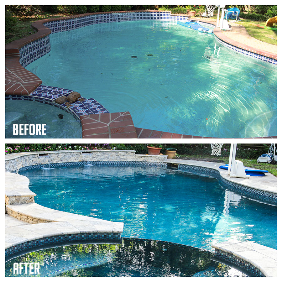 Pool Redo Project Before and After | Festively Made