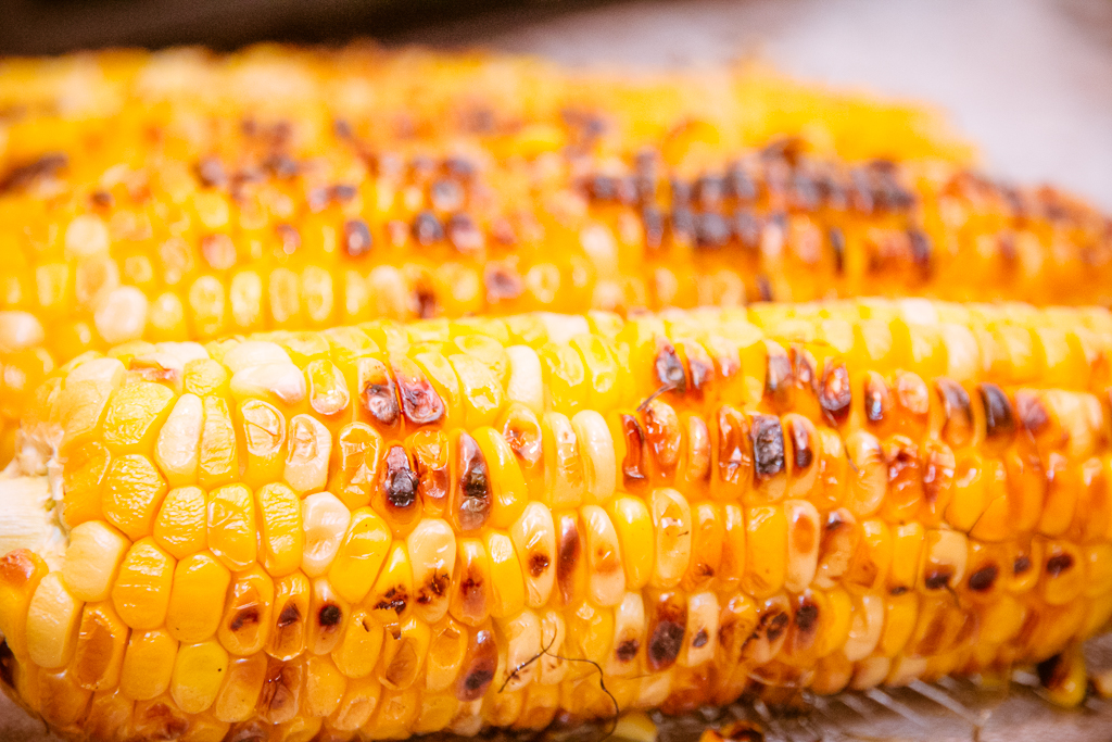 Grilled Corn on the Cob with Spicy Mayo, Lime and Cheese | Festi